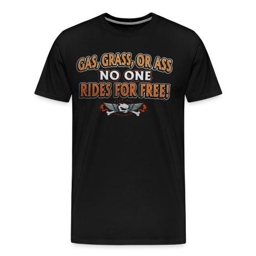 Gas Grass or Ass Biker Shirt - Men's Premium T-Shirt