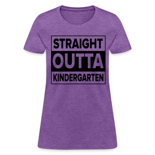 Straight Outta Kindergarten BLACK FLAT Kreative in Kinder MP - Women's T-Shirt