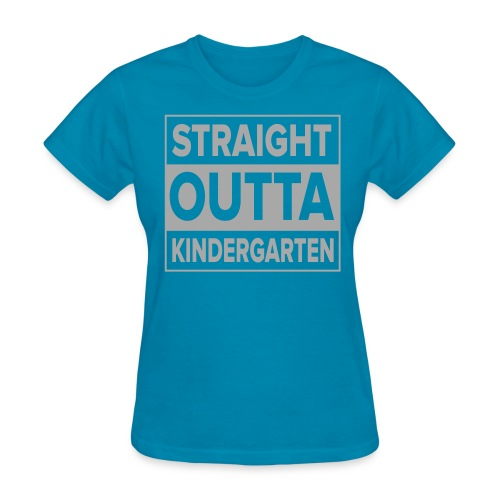 Straight Outta Kindergarten SILVER GLITTER Kreative in Kinder MP - Women's T-Shirt