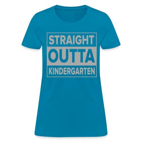 Straight Outta Kindergarten SILVER GLITTER Kreative in Kinder MP - Women's T-Shirt