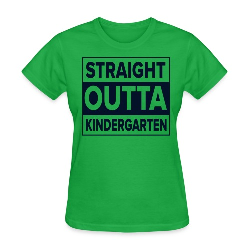 Straight Outta Kindergarten BLACK GLITTER Kreative in Kinder  MP - Women's T-Shirt