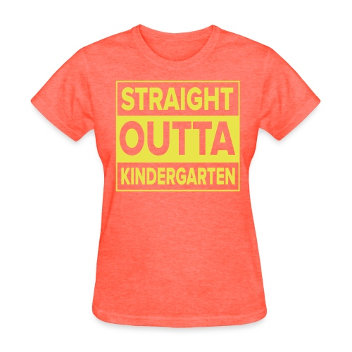 Straight Outta Kindergarten YELLOW FLAT Kreative in Kinder MP - Women's T-Shirt