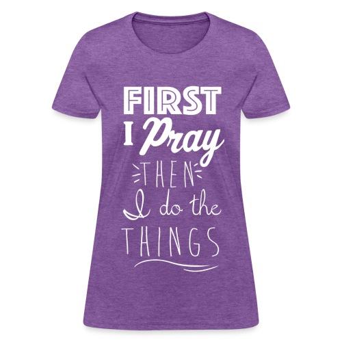 First Pray Kreative in Kinder MP - Women's T-Shirt