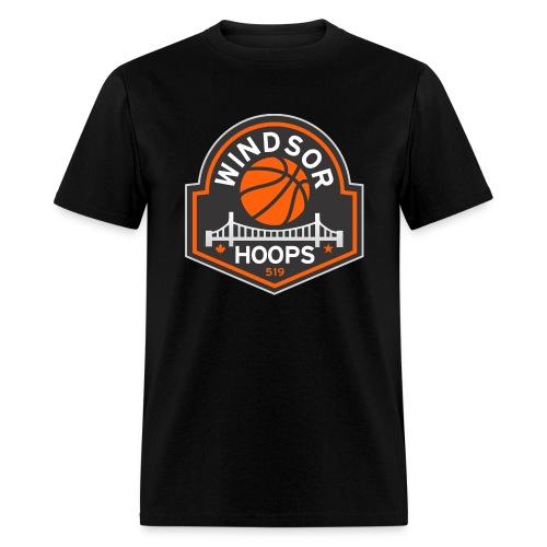 Windsor Hoops Men's T-Shirt - BLACK - Men's T-Shirt