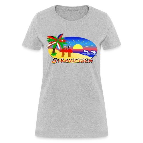 Strandtisch T Shirt fuer die Frau - Women's T-Shirt