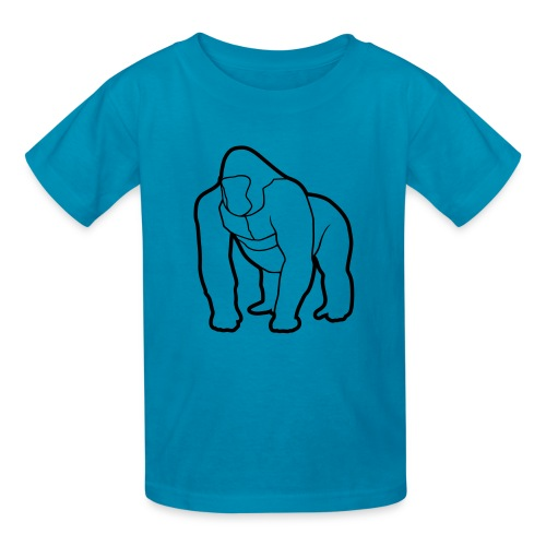 Mighty Tee - Black on Teal (Kids) - Kids' T-Shirt