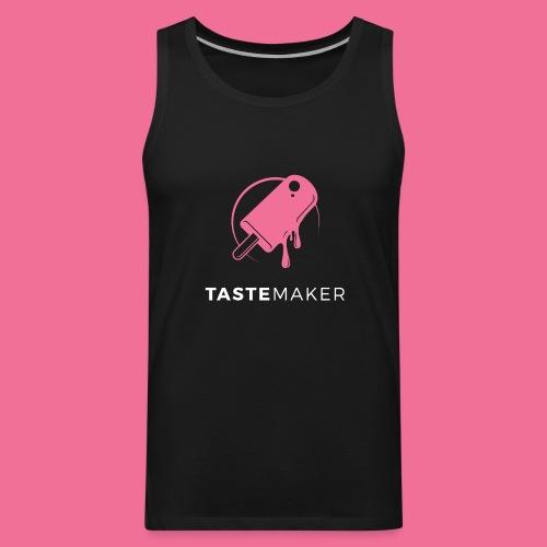 Tastemaker Tank (Logo + Text) - Pink/White - Men's Premium Tank