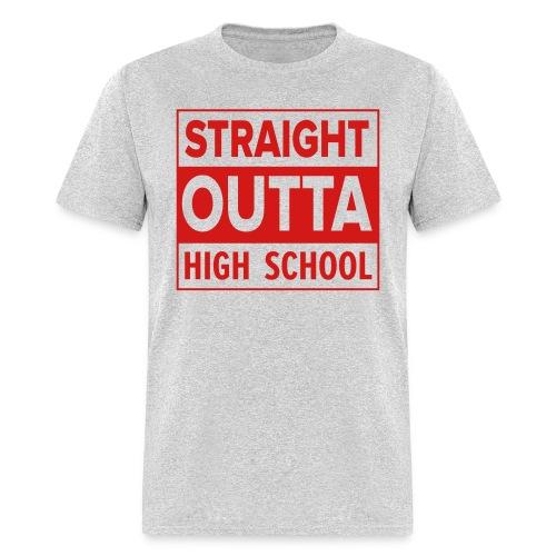 MENS Straight Outta High School RED FLAT - Men's T-Shirt