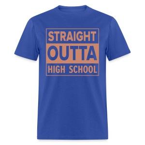 MENS Straight Outta High School PINK GLITTER - Men's T-Shirt