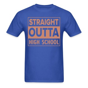 MENS Straight Outta High School PINK GLITTER - Men's T-Shirt