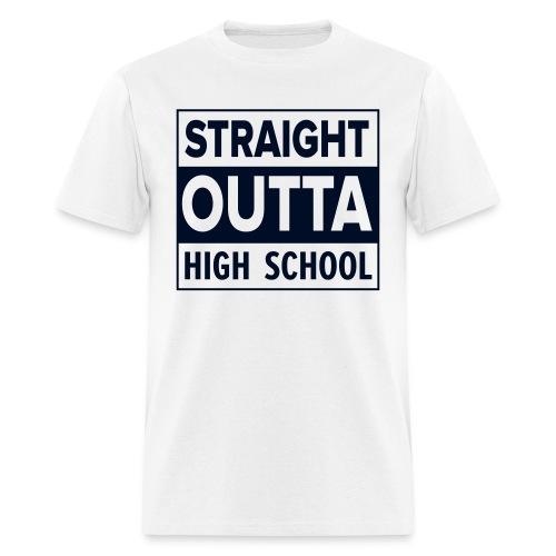 MENS Straight Outta High School BLACK GLITTER - Men's T-Shirt