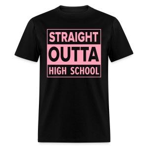 MENS Straight Outta High School PINK FLAT - Men's T-Shirt