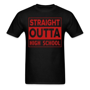MENS Straight Outta High School RED GLITTER - Men's T-Shirt