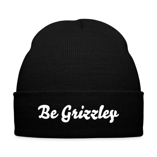 Be Grizzley Beanie - Knit Cap with Cuff Print