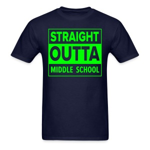 MENS Straight Outta Middle School NEON GREEN - Men's T-Shirt