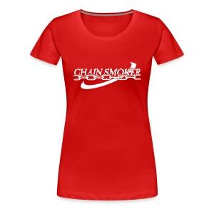 Women's Chain Smoker Disc Golf Shirt - Choose a Color Tee - Women's Premium T-Shirt