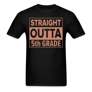 MENS Straight Outta 5th Grade PINK GLITTER - Men's T-Shirt