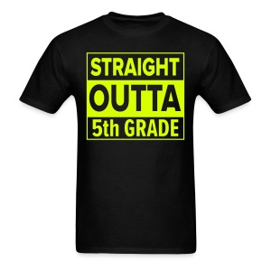 MENS Straight Outta 5th Grade YELLOW NEON - Men's T-Shirt