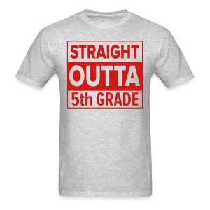 MENS Straight Outta 5th Grade RED FLAT - Men's T-Shirt