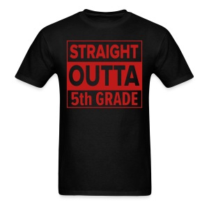 MENS Straight Outta 5th Grade RED GLITTER - Men's T-Shirt