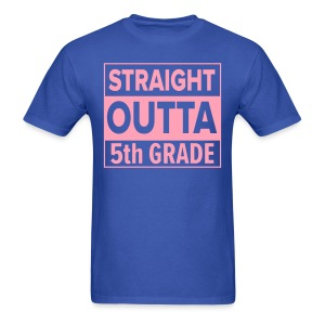 MENS Straight Outta 5th Grade PINK FLAT - Men's T-Shirt