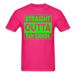 MENS Straight Outta 5th Grade GREEN NEON - Men's T-Shirt