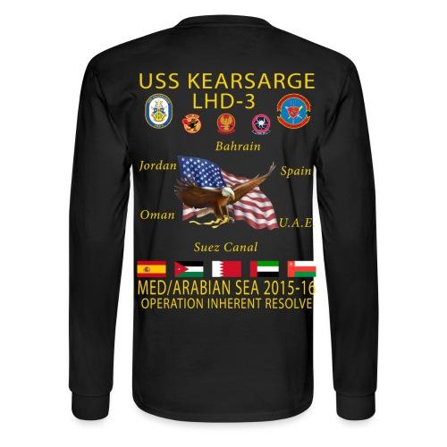 USS KEARSARGE LHD-3 2015-16 CRUISE SHIRT - LONG SLEEVE - Men's Long Sleeve T-Shirt