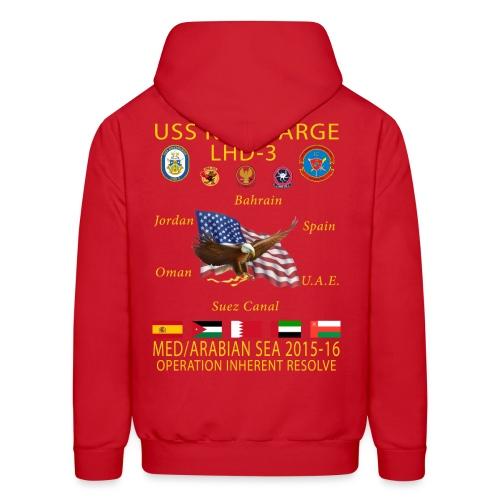 USS KEARSARGE LHD-3 2015-16 CRUISE HOODIE - MEU EDITION - Men's Hoodie