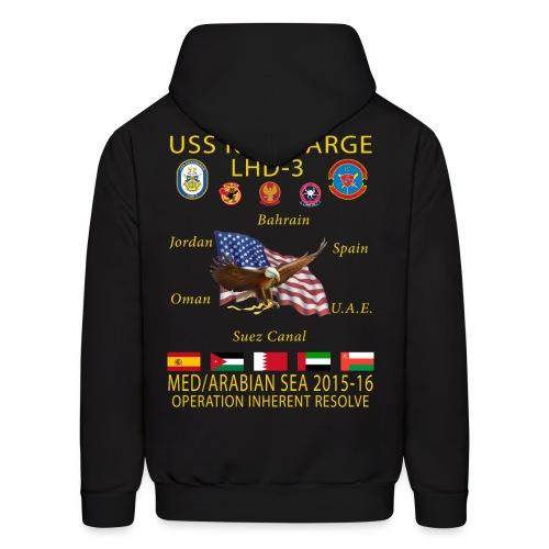 USS KEARSARGE LHD-3 2015-16 CRUISE HOODIE - Men's Hoodie