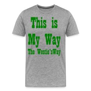 This is My Way Green - Men's Premium T-Shirt