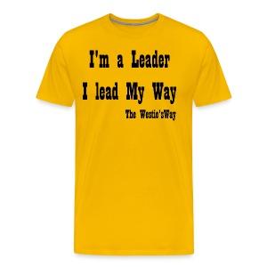 I lead My Way Black - Men's Premium T-Shirt