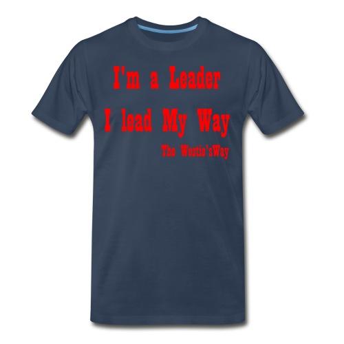 I lead My Way Red - Men's Premium T-Shirt