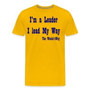 I lead My Way Navy - Men's Premium T-Shirt