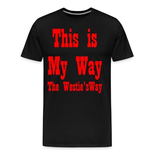 This is My Way Red - Men's Premium T-Shirt