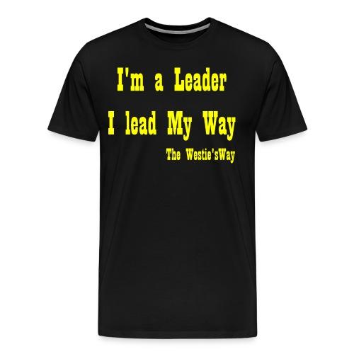 I lead My Way Yellow - Men's Premium T-Shirt