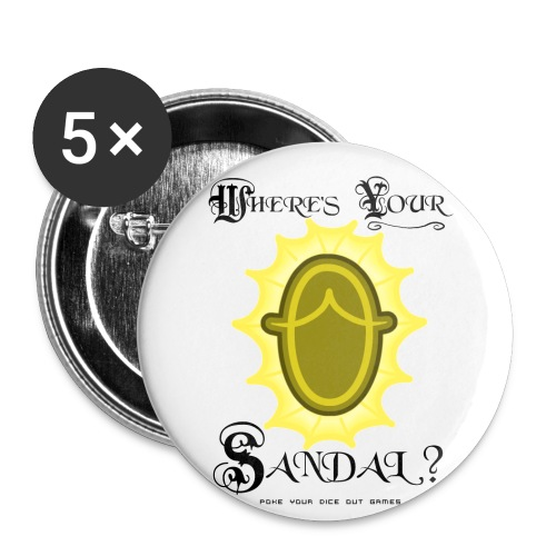 Where's YOUR Sandal? - Small Buttons