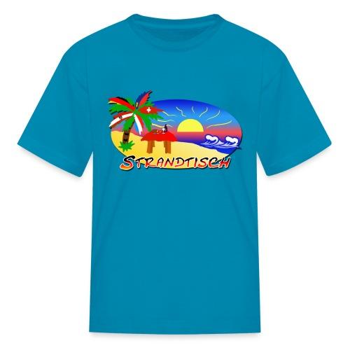 Strandtisch T Shirt fuer Kinder - Kids' T-Shirt
