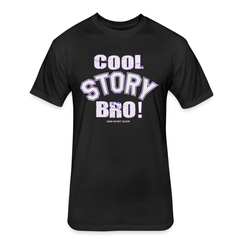 Cool Story Bro - Mens T-shirt - Fitted Cotton/Poly T-Shirt by Next Level