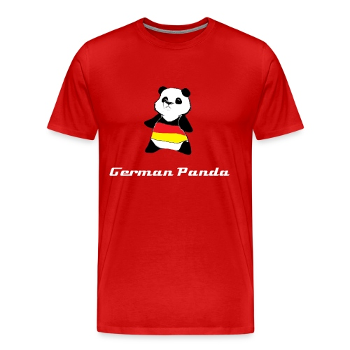 German Panda Let's Play T-Shirt- Red - Men's Premium T-Shirt