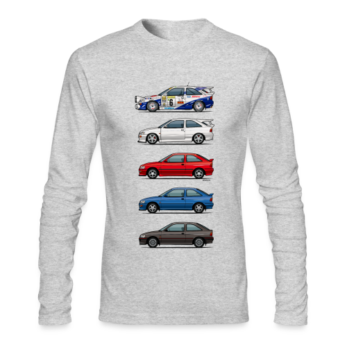 Stack of Ford Escort Mk5 Coupes - Men's Long Sleeve T-Shirt by Next Level
