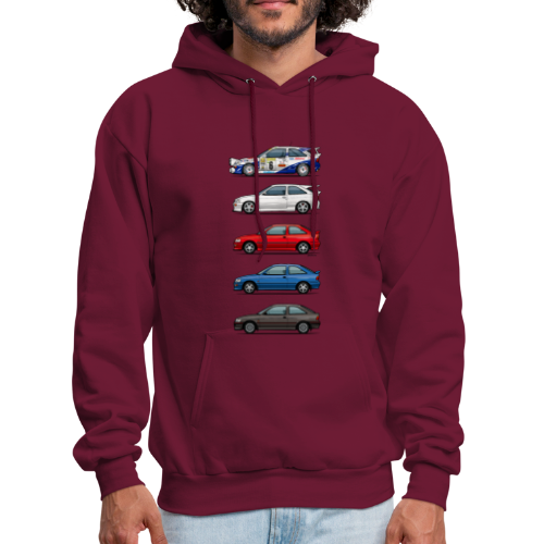 Stack of Ford Escort Mk5 Coupes - Men's Hoodie