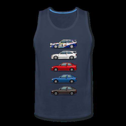 Stack of Ford Escort Mk5 Coupes - Men's Premium Tank