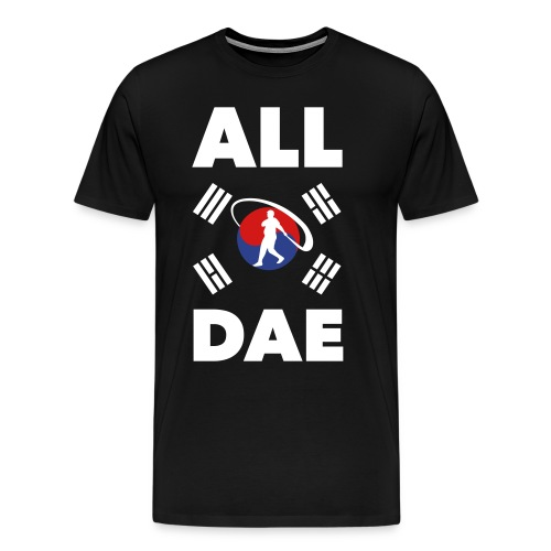 ALL DAE (Korean Flag & #10) - Men's Premium T-Shirt