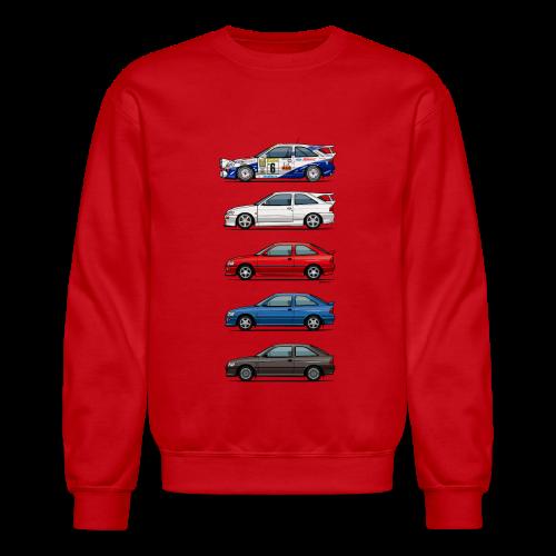 Stack of Ford Escort Mk5 Coupes - Crewneck Sweatshirt