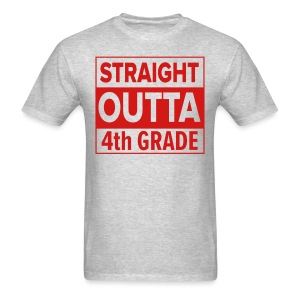 MENS Straight Outta 4th Grade RED FLAT - Men's T-Shirt