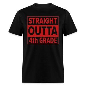 MENS Straight Outta 4th Grade RED GLITTER - Men's T-Shirt