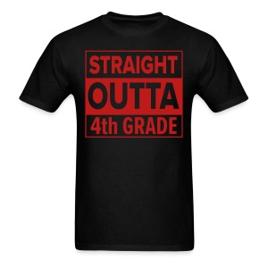 MENS Straight Outta 4th Grade RED GLITTER - Men's T-Shirt