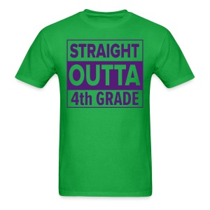 MENS Straight Outta 4th Grade PURPLE FLAT - Men's T-Shirt