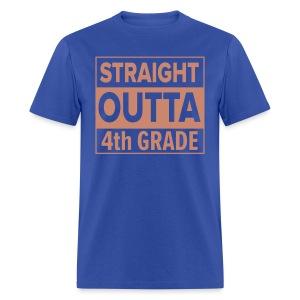 MENS Straight Outta 4th Grade PINK GLITTER - Men's T-Shirt