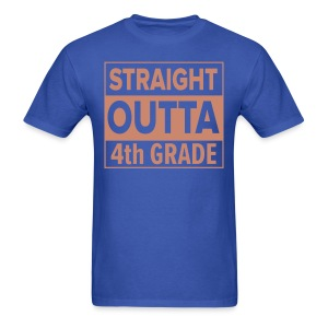 MENS Straight Outta 4th Grade PINK GLITTER - Men's T-Shirt